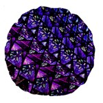 Blue purple Glass Large 18  Premium Round Cushion