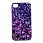 Blue purple Glass Apple iPhone 4/4S Hardshell Case with Stand
