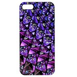 Blue purple Glass Apple iPhone 5 Hardshell Case with Stand