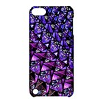 Blue purple Glass Apple iPod Touch 5 Hardshell Case with Stand
