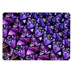 Blue purple Glass Samsung Galaxy Tab 10.1  P7500 Flip Case