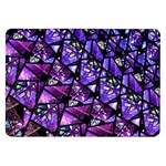 Blue purple Glass Samsung Galaxy Tab 8.9  P7300 Flip Case