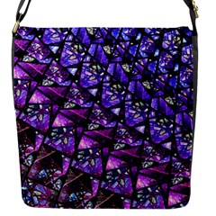 Blue Purple Glass Flap Closure Messenger Bag (small) by KirstenStar