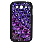 Blue purple Glass Samsung Galaxy Grand DUOS I9082 Case (Black)
