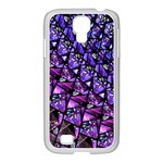 Blue purple Glass Samsung GALAXY S4 I9500/ I9505 Case (White)