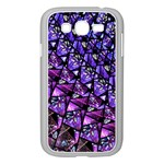 Blue purple Glass Samsung Galaxy Grand DUOS I9082 Case (White)