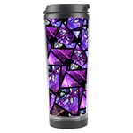 Blue purple Glass Travel Tumbler