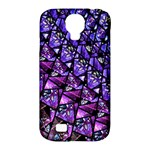 Blue purple Glass Samsung Galaxy S4 Classic Hardshell Case (PC+Silicone)