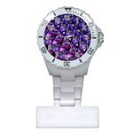 Blue purple Glass Nurses Watch