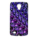 Blue purple Glass Samsung Galaxy S4 Active (I9295) Hardshell Case