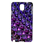 Blue purple Glass Samsung Galaxy Note 3 N9005 Hardshell Case