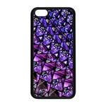 Blue purple Glass Apple iPhone 5C Seamless Case (Black)