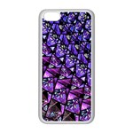 Blue purple Glass Apple iPhone 5C Seamless Case (White)