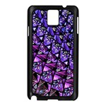 Blue purple Glass Samsung Galaxy Note 3 N9005 Case (Black)