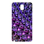 Blue purple Glass Samsung Galaxy Note 3 N9005 Hardshell Back Case