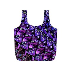 Blue Purple Glass Reusable Bag (s) by KirstenStar