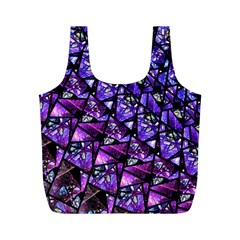 Blue Purple Glass Reusable Bag (m) by KirstenStar