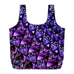 Blue purple Glass Reusable Bag (L)