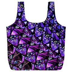 Blue Purple Glass Reusable Bag (xl) by KirstenStar