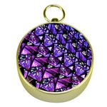 Blue purple Glass Gold Compass