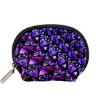 Blue purple Glass Accessory Pouch (Small)