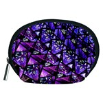 Blue purple Glass Accessory Pouch (Medium)