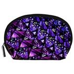 Blue purple Glass Accessory Pouch (Large)