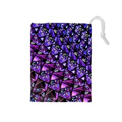 Blue Purple Glass Drawstring Pouch (medium) by KirstenStar
