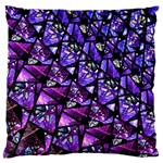 Blue purple Glass Large Flano Cushion Case (One Side)