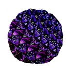 Blue purple Glass Standard 15  Premium Flano Round Cushion