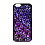 Blue purple Glass Apple iPhone 6 Black Enamel Case
