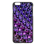 Blue purple Glass Apple iPhone 6 Plus Black Enamel Case
