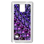 Blue purple Glass Samsung Galaxy Note 4 Case (White)