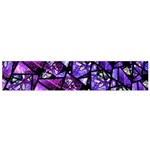 Blue purple Glass Flano Scarf (Small)