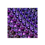 Blue purple Glass Satin Bandana Scarf
