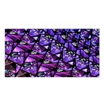 Blue purple Glass Satin Shawl