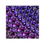 Blue purple Glass Small Satin Scarf (Square)