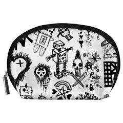Scene Kid Sketches Accessory Pouch (large) by ArtistRoseanneJones