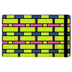 Pink,green,blue Rectangles Pattern Apple Ipad 2 Flip Case by LalyLauraFLM