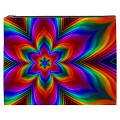 Rainbow Flower Cosmetic Bag (xxxl) by KirstenStar