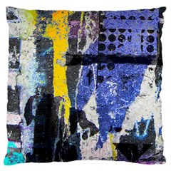 Urban Grunge Large Flano Cushion Case (one Side) by ArtistRoseanneJones