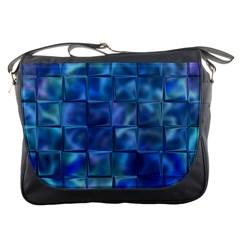 Blue Squares Tiles Messenger Bag by KirstenStar