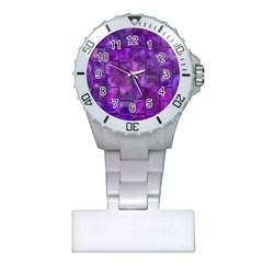 Purple Squares Nurses Watch by KirstenStar