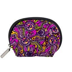 Purple Tribal Abstract Fish Accessory Pouch (small) by KirstenStar