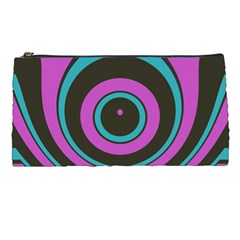 Distorted Concentric Circles Pencil Case by LalyLauraFLM