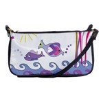 Fish Scribbles Shoulder Clutch Bag