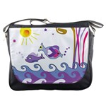 Fish Scribbles Messenger Bag