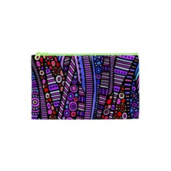 Stained Glass Tribal Pattern Cosmetic Bag (xs) by KirstenStar
