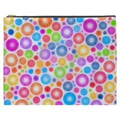 Candy Color s Circles Cosmetic Bag (xxxl) by KirstenStar