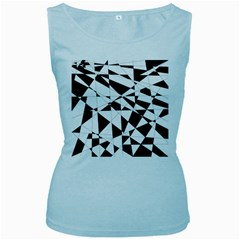 Shattered Life In Black & White Women s Tank Top (baby Blue) by StuffOrSomething